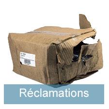 Réclamations suite à la livraison
