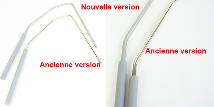 Genouillères Bernina ancienne et nouvelle version