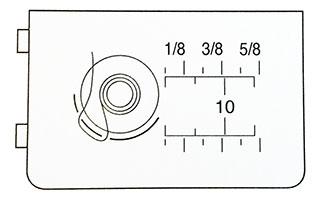 Cache canette pour appareil de broderie circulaire Janome 202106009