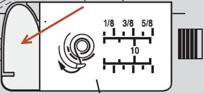 Cache couvercle adapté au pied broderie circulaire Janome