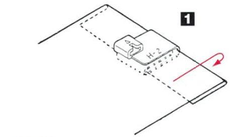 Guide pied rabat unique, ourlet couvert H2 mise en place sur le tissu.jpg