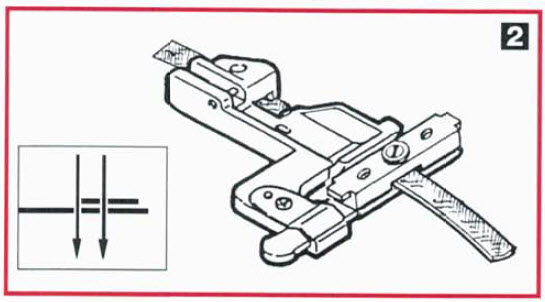 pied élastique janome 1200D pour déterminer le fronçage