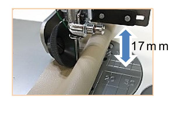 Utilisation du pied roulant janome avec du passepoil