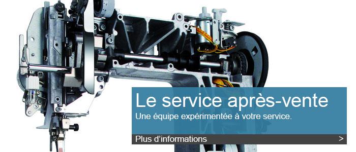 Service après-vente de qualité pour votre machine à coudre
