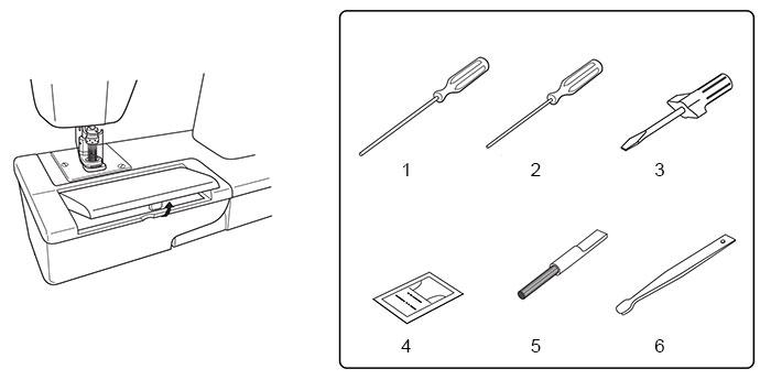 Machine à feutrer Babylock Embellisher EMB12 - Accessoires en détail