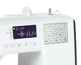 Affichage LCD de la machine à coudre Bernette b38