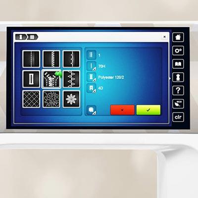 Conseils sur l'écran - Bernina 790 Plus Crystal Edition