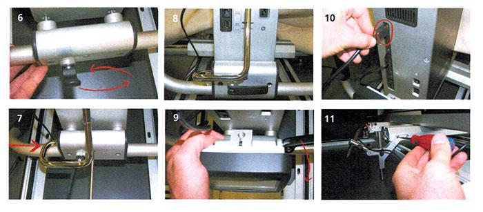 Montage du kit pantographe pour machine quilt Bernina Longarm Q24