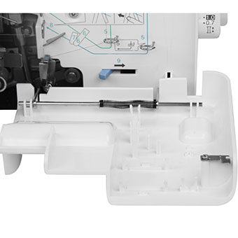 Boîte d'accessoires intégrée de la surjeteuse Bother 2104D