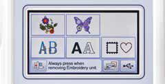 138 motifs de broderie intégrés - Brother Innovis F480