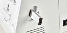 Ports USB pour importer des motifs