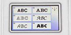 Styles de polices de caractères intégrés