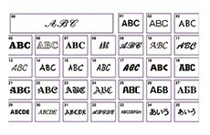 37 polices de caractères intégrées