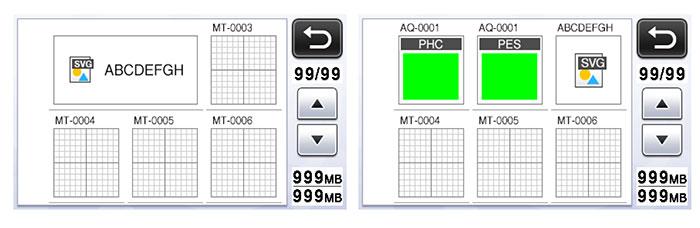 Lecture des données au format SVG - Brother ScanNCut CM900