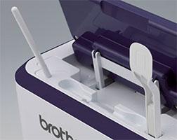 Rangements pratiques pour le stylet et la spatule