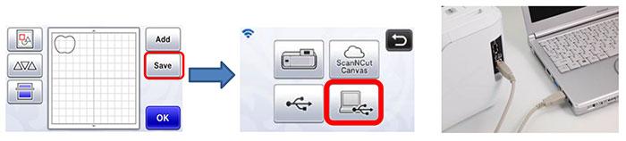 Sauvegarder un motif de découpe vers un PC