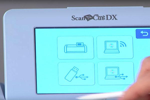 Numérisation vers port USB en 600 DPI - scanncut SDX1000