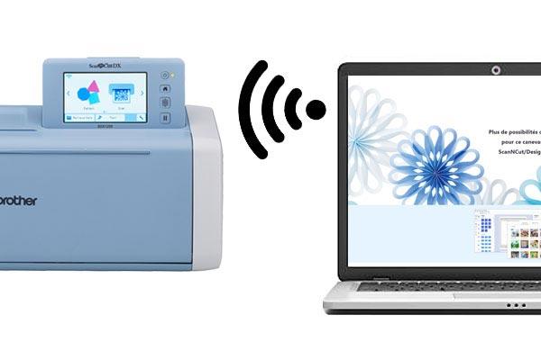 Connexion sans fil LAN - ScanNcut SDX1200