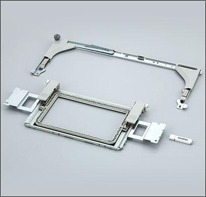 Kit cadre bordure et clé USB avec 50 motifs de broderie pour machine Brother VR
