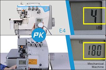 Surjeteuse Jack E4 - Consommation électrique lors de la mise en veille