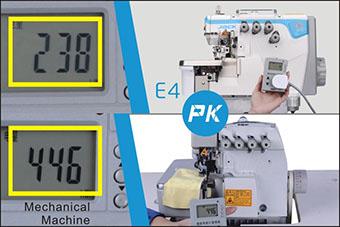 Surjeteuse Jack E4 - Consommation électrique en mode travail