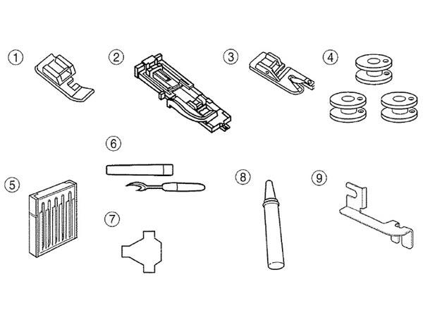 Accessoires de la machine à coudre Janome 423S