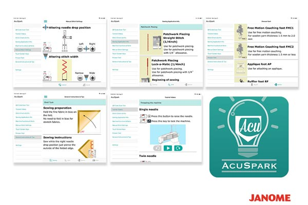 Application Acuspark - Janome Continental M7 Professional