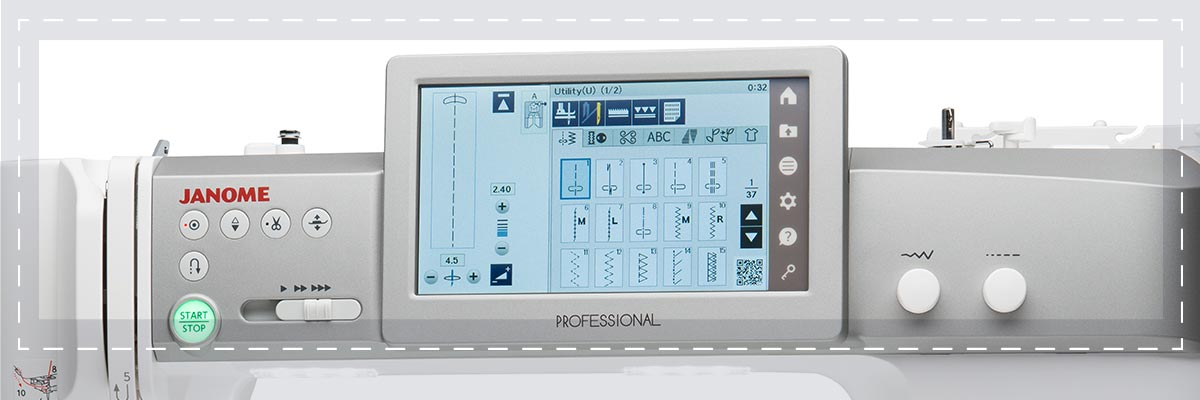 Ecran Tactile LCD Avancé - Janome Continental M7 Professional