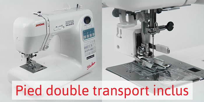 Pied-double transport - Janome Exclusive Edition Stecker