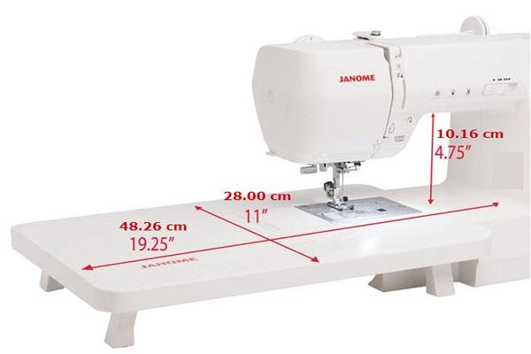 Table d'extension de la machine à coudre Janome M200 QDC
