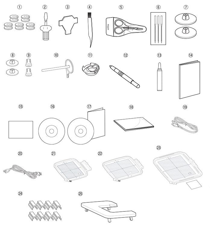 Accessoires machine à broder Janome Memory Craft 500E