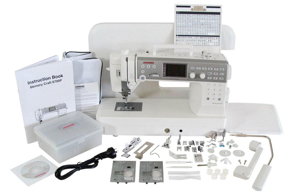Accessoires de la machine à coudre Janome Memory Craft 6700P