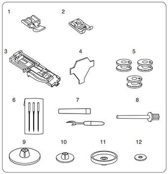 Machine à coudre Janome Sakura 30 - Accessoires