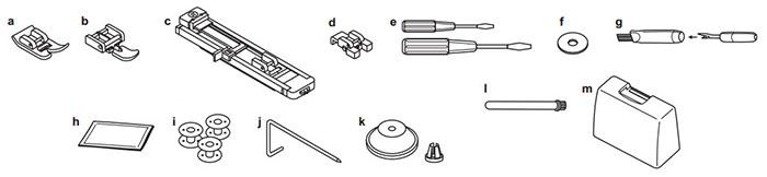 Accessoires de la machine à coudre Juki HZL-353ZR