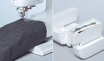 Bras libre et boîte d'accessoires de la machine à coudre Juki HZL-353ZR