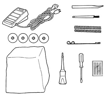 Accessoires de la surjeteuse Juki MO-104D