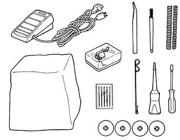 Accessoires de la surjeteuse Juki MO-114D