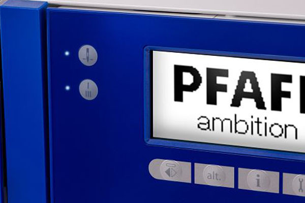 Ãcran ACL PFAFF® - Machine à coudre Pfaff Ambition 610