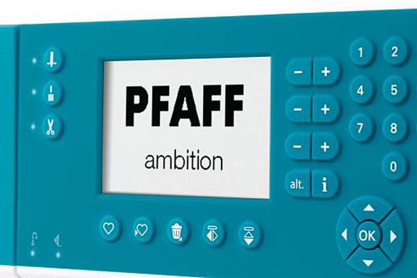 Écran ACL PFAFF® - Machine à coudre Pfaff Ambition 620