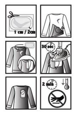 Instructions d'utilisation du répare accroc invisible thermocollant