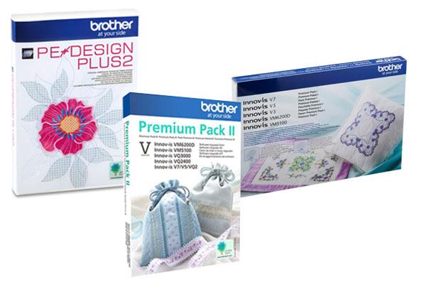Logiciel Pe-Design Plus 2 et pack premium 1 et 2 Brother