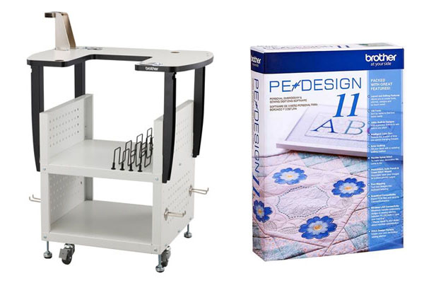 Logiciel Pe-Design 11 et Table de rangement Brother PR/VR
