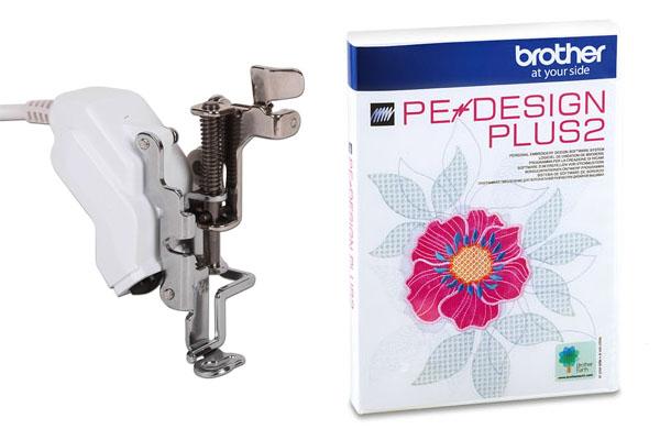 Pied broderie laser et Logiciel Pe-Design Plus 2 Brother