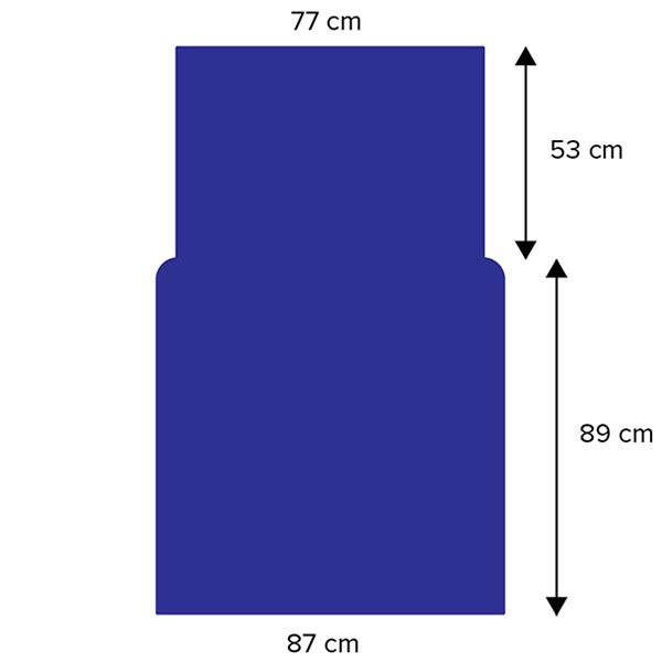Dimensions de la housse à repasser pour rouleau 85cm