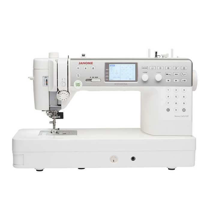 JANOME Memory Craft 6700P + action
