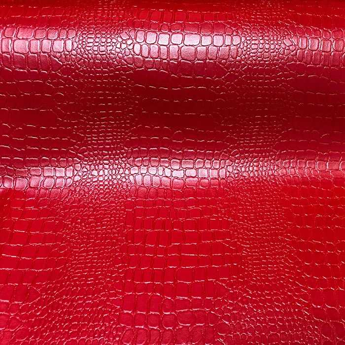 Simili cuir Croco bordeaux 140cm /50cm