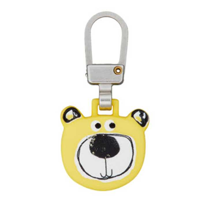 Zipper ourson 40mm Jaune