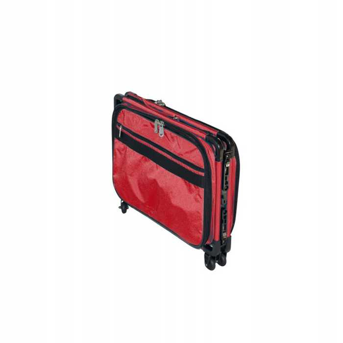 Valise à roulette Trolley medium rouge