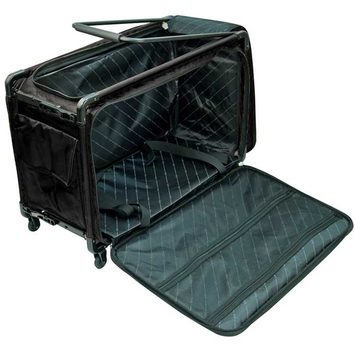 ets stecker valise roulette trolley grande noire. Black Bedroom Furniture Sets. Home Design Ideas