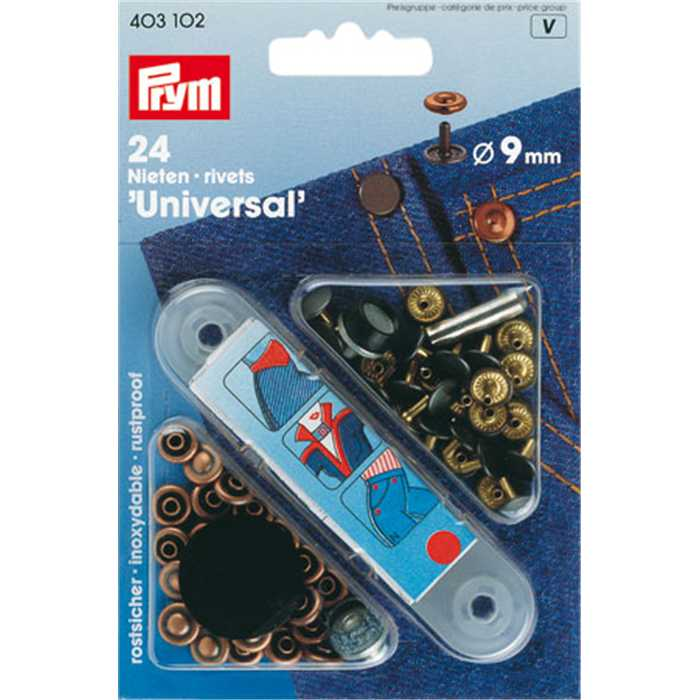 Rivets universels 9mm Prym